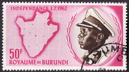 BURUNDI  1962 -   YT  34  -  Indépendance  -  Oblitéré - Burundi