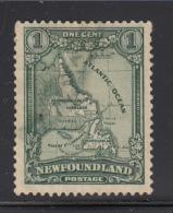 Newfoundland 1928 Used Scott #145 1c Map  Of Newfoundland - 1908-1947
