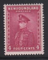 Newfoundland 1932-37 MH Scott #189 4c Prince Of Wales, Rose Lake - 1908-1947