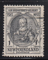 Newfoundland 1933 Used Scott #212 1c Sir Humphrey Gilbert - 1908-1947