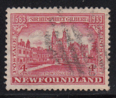 Newfoundland 1933 Used Scott #215 4c Eton College - 1908-1947