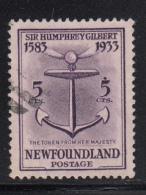 Newfoundland 1933 Used Scott #216 5c Token From Queen Elizabeth I - 1908-1947