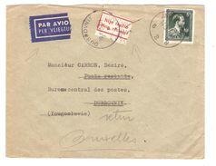 TP 696 S/L.Avion C.Antwerpen 1959 V.Dubrovnik Croatie étiquette Croate De Non Distribution Rare AP1537 - Belgique
