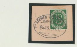 "11 150 Briefstück Bahnpost ""AACHEN-HOLZMINDEN"" 1953 - Oblitérés"