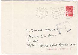 FRANCIA - France - 1997 - Marianne De Luquet Rouge + FD, Fausse Direction - Viaggiata Da Lyon Per Bourg-Saint-Maurice - Storia Postale