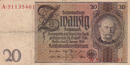 20 Mark Allemagne 1929 - [ 3] 1918-1933 : République De Weimar