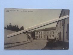 HOUTAIN - LE - VAL «Le Carrefour De L'Eglise «animée,ancien Véhicule (1919) Édit O.Cardona .NELS. - Genappe