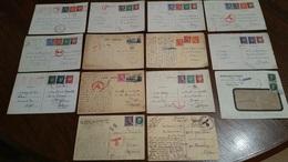 14 DOCS. CENSURE CENSOR GUERRE WW2 CAMP DE TROUHANS CARTE INTERZONE BELGIQUE COMPLEMENT D'AFFRANCHISSEMENT /FREE SHIP. R - Guerre De 1939-45