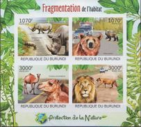Burundi MNH Fragmentation Imperforated Sheetlet And SS - Stamps