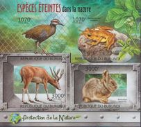 Burundi MNH Animals Imperforated Sheetlet And SS - Stamps