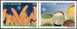 ECUADOR 2001 ** YVERT 1606-07 FAO. ALIMENTACION. AGRICULTURA. - Ecuador