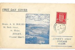 JERSEY'S FIRST POSTAGE STAMP   1 AP 1941 - Enveloppe (FDC)1° Jour JERSEY  Occupation Allemande   -  L 1 - Jersey