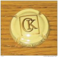 Plaque De Muselet Ou Capsule De Crémant D'Alsace CK Charles Kellner Beige - Unclassified