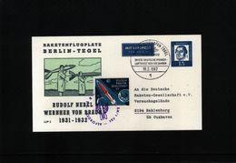 Germany / Deutschland 1962 Space / Raumfahrt  Rocket Post With Interesting Label / Raketenpost Mit Seltene Vignette - Lettres & Documents