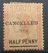 Mauritius 1877 Queen Victoria Overprint - Mauritius (...-1967)
