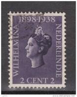 Nederlands Indie Netherlands Indies 235 Used ; Koningin, Queen, Reine, Reina Wilhelmina 1938 - Nederlands-Indië