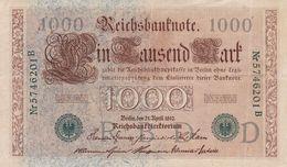 1 000 Mark Allemagne 1910 - [ 2] 1871-1918 : German Empire