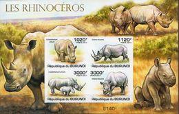 Burundi MNH Rhinos Imperforated Sheetlet - Rhinozerosse