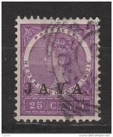 Nederlands Indie Netherlands Indies Dutch Indies 76 Used ; Wilhelmina CANCEL JAVA 1908 - Nederlands-Indië