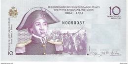 Haiti - Pick 272f - 10 Gourdes 2014 - Unc - Commemorative - Haiti