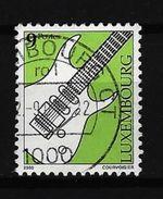 LUXEMBURG - Mi-Nr. 1522 Musikinstrumente E-Gitarre Gestempelt (2) - Gebruikt