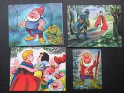 LOT 4 CHROMOS LESIEUR - COTELLE & ASS (M1801) BLANCHE NEIGE ET LES 7 NAINS (1 Vue) Rue Des Palais 32 1030 Bruxelles - Trade Cards