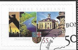 2007 Allem. Fed.   Deutschland  Mi.  2595  FD-used Bonn 50 Jahre Bundesland Saarland - Gebraucht