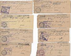 FISCAL - PARAFISCAL 16 Reçus Contributions Indirectes Divers Octrois De Paris Entre 1938 Et 1942 - Fiscale Zegels