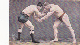 "CPA Sport Lutte Lutteurs ""The Double Arm Hold And Stop"" Illustrateur OILETTE Raphaël Tuck - Wrestling"