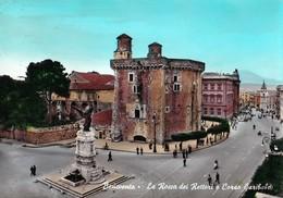 BENEVENTO - LA ROCCA DEI RETTORI E CORSO GARIBALDI - F/G - V: 1964 - ANIMATA - Benevento