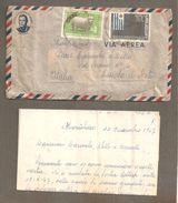 BUSTA STORIA POSTALE VIA AEREA 1967 URUGUAY PER ITALIA DA MONTEVIDEO A CESSOLE ( ASTI ) - Uruguay