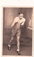 Photo 8,5 X 13,5 Sport Boxe Boxeur Autographe Original Signature Réelle Dédicace Autograph Roger MOUNIN - Autografi