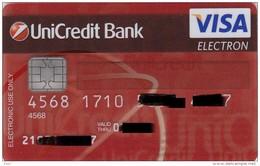 Czech Republic - UniCredit Bank - VISA Elektron - Geldkarten (Ablauf Min. 10 Jahre)