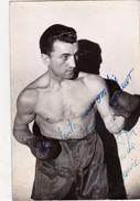 Photo 9 X 14 Sport Boxe Boxeur Autographe Original Signature Réelle Dédicace Autograph - Autografi