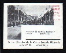 1958 Actualités N° 10 Histoire De La Carte Postale,EMA Env.illustrée + Dépliant,Incendie,Exposition,départ Ballon Pax,.. - Evénements
