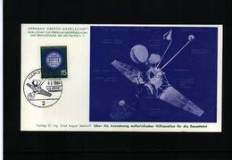 Germany / Deutschland 1964 Space / Raumfahrt Interesting Postcard - Europe