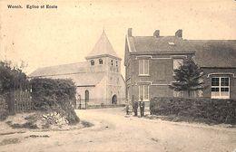 Wonck (Bassenge) - Eglise Et Ecole (animée, 1913) - Bassenge