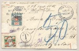 Schweiz - 1915 - 50 Cent Portomarke On Unfranked Cover From New York / USA To Zürich - Strafportzegels