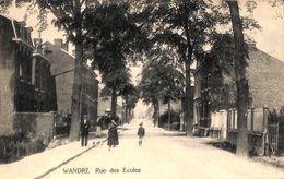 Wandre - Rue Des Ecoles (animée,  Edit. Bronsin 1920) - Liege