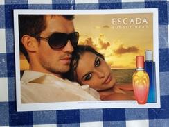 Carte Postale Avec Liquatouch ADVERTISING Postcard SUNSET HEAT Escada - Perfume Cards