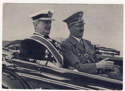 Karte Reichsverweser Horthy Vom Führer In Kiel Empfangen Mit Verschiedenen Sonderstempel - Storia Postale