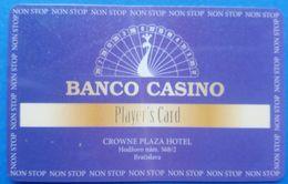 Banco Casino Bratislava Players Card Very Lightly Banded - Casino Cards