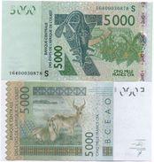 West African States - Guinea-Bissau S - 5000 Francs 2016 AUNC Lemberg-Zp - Niger