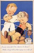 CPSM Sport Boxe Boxeur Soigneur Humour Fantaisie Illustrateur Style GOUGEON - Boxe