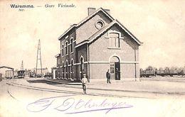 Waremme - Gare Vicinale (animée, A. Moureau, Précurseur) - Borgworm