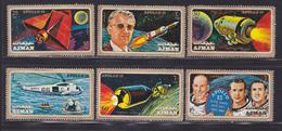 AJMAN N°  125 & AERIENS N° 96 ** MNH Neufs Sans Charnière, 6 Valeurs, TB (D4433) Cosmos, Apollo 15 - Adschman