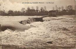 - Nievre -ref-A873 - Saint Leger Les Vignes - St Leger Les Vignes - Le Barrage - Barrages - - Autres Communes