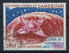 Cameroon, Luna 9, Conquest Of The Moon, 1967, VFU  Airmail - Cameroon (1960-...)