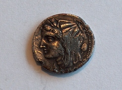 Grecque Faux 8 Litrae Fourées De Morgantina Au Nom Des Sicéliotes - Fausses Monnaies