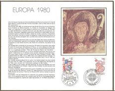 Feuillet Philatélique 1er Jour 26 Avril 1980 Europa - 1990-1999